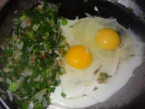 spring onion egg recipe