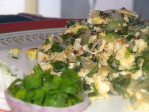 spring onion egg recipe