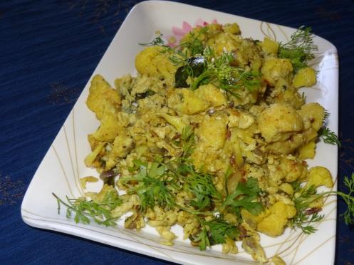 cauliflower egg stir fry
