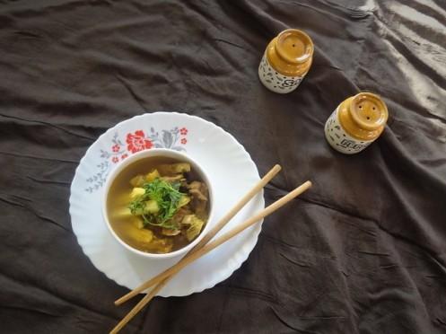 mutton baby corn soup