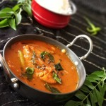 salmon fish curry kaala meen kozhambhu